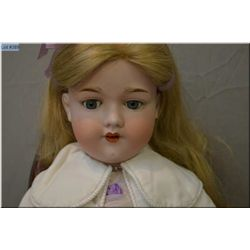"27"" Armand Marseille 390 bisque head doll on composition body with sleep eyes, open mouth, good bisq"