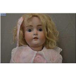 "30"" Kestner 171 bisque head doll on composition body with open mouth, sleep eyes, great bisque, no c"