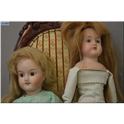 "17"" bisque head doll marked Montrevel France with set eyes, open mouth on composition body, good bis"