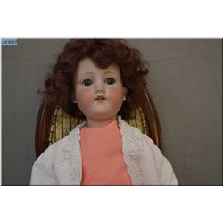 "25"" Armand Marseille 390 bisque head doll on composition body, sleep eyes, open mouth, good bisque,"