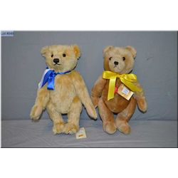 "Steiff jointed teddy bear numbered 953798 ""First American Teddy"" with growler 14"" tall and a Hermann"