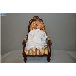 "21"" Armand Marseille 390 bisque head doll on composition body with sleep eyes, open mouth, good bisq"