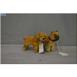 "Two vintage Steiff dogs 5"" in length each"