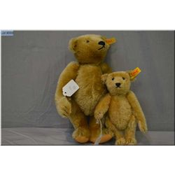 "Two Steiff jointed teddy bears including 12"" with growler and 8"" bear"