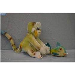 "A vintage Steiff fish 5"" in length and a Steiff monkey 6"" in height"