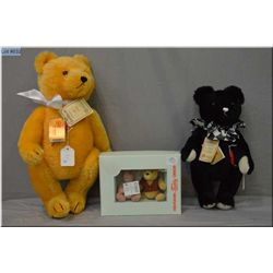 "Two limited edition Hermann jointed teddy bears including 16"" golden coloured bear with growler, and"
