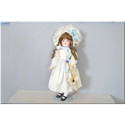 "22"" Simon and Halbig bisque head doll on composition body, with sleep eyes, open mouth, good bisque,"