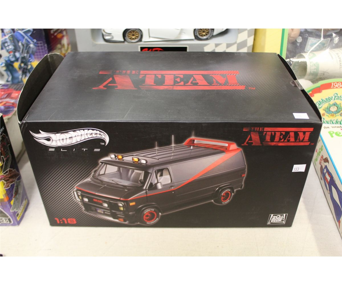 the a team van hotwheels elite 1 18 scale die cast with. Black Bedroom Furniture Sets. Home Design Ideas