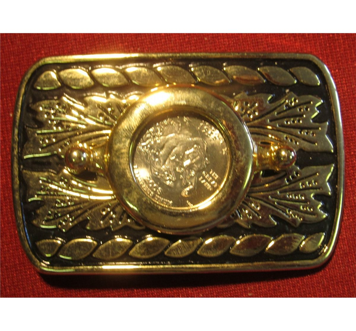 567. Gold-colored Belt Buckle with an Alaska Statehood ...