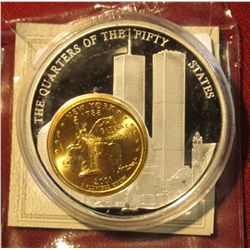672. Limited Edition of 9,999. Made in Germany. Silver-plated Copper with gold-plated quarter. Weigh