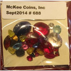 688. 37.05 Carats of various Synthetic & Genuine Stones, which have been removed from Gold Jewelry.
