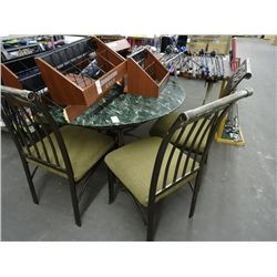 Glass Top Table w/4 Chairs