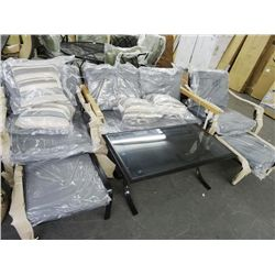 Patio Loveseat, Table & Chair Set