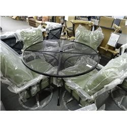 Round Patio Table w/6 Chairs