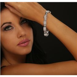 14KT White Gold 6.46ctw Diamond Bracelet