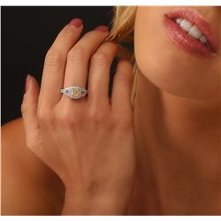 18KT Two Tone Gold 2.02ctw Diamond Ring