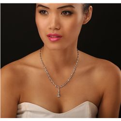 14KT White Gold 0.95ctw Diamond Necklace