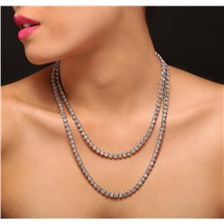 10KT White Gold 16.59ctw Diamond Necklace
