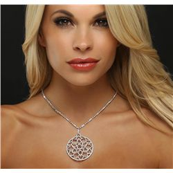 18KT Two-Tone Gold 8.38ctw Diamond Necklace