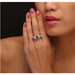 14KT Two-Tone Gold 1.56ct Tanzanite and Diamond Ring
