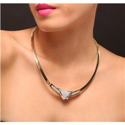 14KT Two-Tone Gold 5.75ctw Diamond Necklace