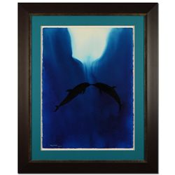 Kissing Dolphins by Wyland