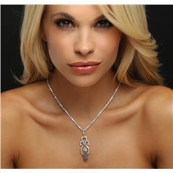 18KT Two-Tone Gold 4.56ctw Diamond Necklace