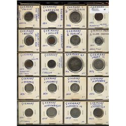 Germany;  lot of 96 coins from early 1800's to mid 1900's with many silver examples.  Includes 1826