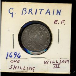 Great Britain, 6 Pence 1696 VF-20