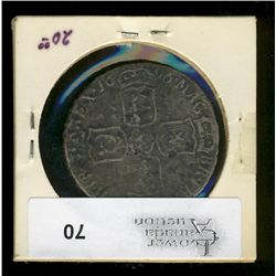 Great Britain, 1/2 Crown 1696 F, corroded