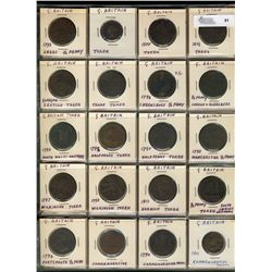 Great Britain Token and Coins;  53 various and interesting mainly tokens including Conder tokens dat