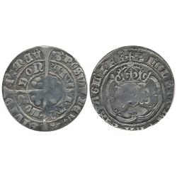 Great Britain; 1509 1 Shilling.  Hammered issue coin.