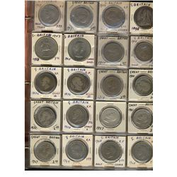 Great Britain; lot of 230+ coin dating early 1800's to mid 1900's with several silver issues.  Black