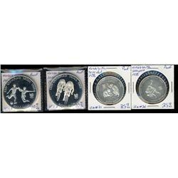 Korea South; 5000 Won 1988 Sterling Silver Proof KM #70 & 71 Seoul 1988, 10000 Won 1988 Sterling Sil