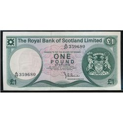 Royal bank of Scotland 1 pound 1972 AU