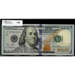 United States; 100 dollars notes 2009A, Geithner Rios, LD41941101A to LD41941105A (5 consecutives) C