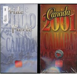 RCM Lot; 25 cents 2000 January, Pride, Colourized & 25 cents 2001P Canada Day, Colourized. Lot of 2