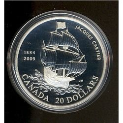 20 dollars 1534-2009 Fine Silver commemorating the 475th Anniversary of the arrival of Jacques Carti