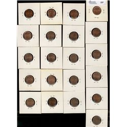 Cents 1941, 1942, 1943, 1950(2), 1951(2), 1952(7), 1953, 1956, 1957, 1959 1964, 1965 and 1967.  MS o