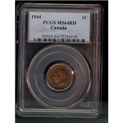 Cent 1944 PCGS MS-64 Red.