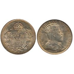 5 Cents 1903H  Sml H ICCS MS65.  Pristine lustre under gold shades.