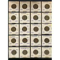 5 Cent Accumulation;  1942-1967.  358 pieces VG to UNC with many duplicate dates.  In black binder.