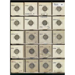 10 Cents Collection; 1858 - 1936 incomplete date set.  66 pieces with no duplicates and no key issue