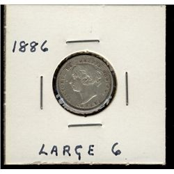 10 Cents 1886 F-12.  Large 6.