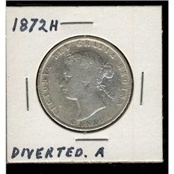 50 Cents 1872H G-6.  A over V.