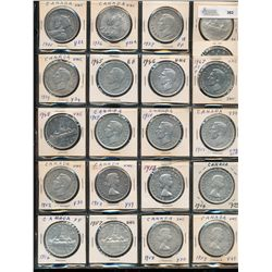 Dollars Silver Date Set; 1935 - 1967.  Includes 1938, 1945 (f-12), 1946, 1947 Blt (UNC), 1947 Ptd Do