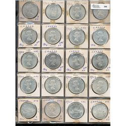 Dollars Silver; 1964 - 1966.  Lot of 68 pieces EF to UNC.