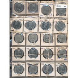 Dollars Nickel; 1968 - 1975 mix date lot with numerous duplicates and more. 140 pieces EF to UNC.