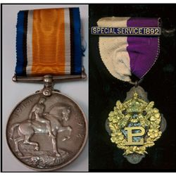 Great Britain;  War Medal 1914-1918 with Ribbon awarded to PteW.H. Williams and Unknown provenance S