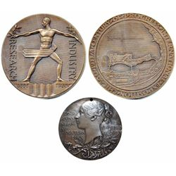 Great Britain;  Bronze medal commemorating Queen Victoria's 60 year reign. Obverse features a profil